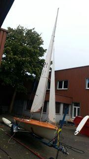 Segelboot Segel Jolle Klepper Einhand