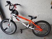 BMX-Rad für Kinder in orange weiß