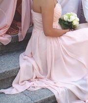 Elegantes A-Linie Herzausschnitt Rosa Brautjungfernkleid