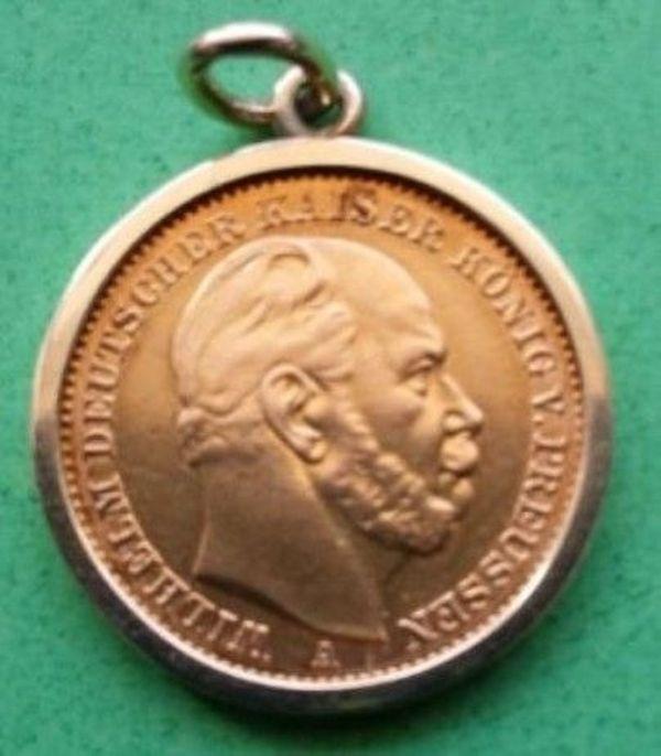 20 Gold Mark Von 1872 Wilhelm Deutscher Kaiser König V Preussen
