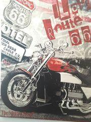 Leinwand Motorrad