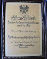 URKUNDE REICHSJUGENDSPIELE 1927