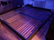 Segmüller Massivholz Bett mit dunklem
