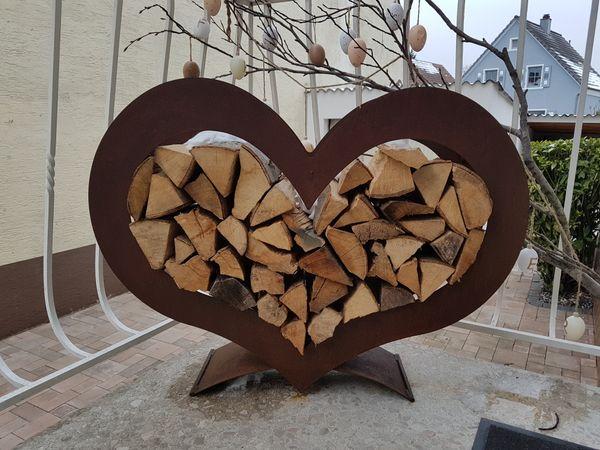 metallherz tannenbaum rostherz deko gro in karlsdorf. Black Bedroom Furniture Sets. Home Design Ideas